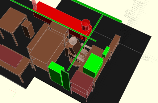 CAD model of current desk setup